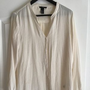 H&M Creme Button Down Blouse